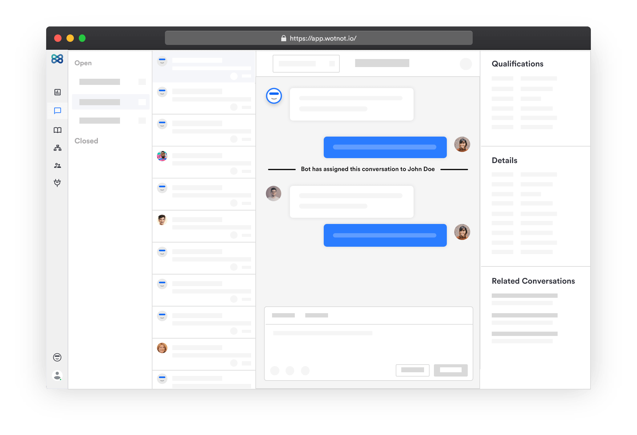 Live Chat Screen